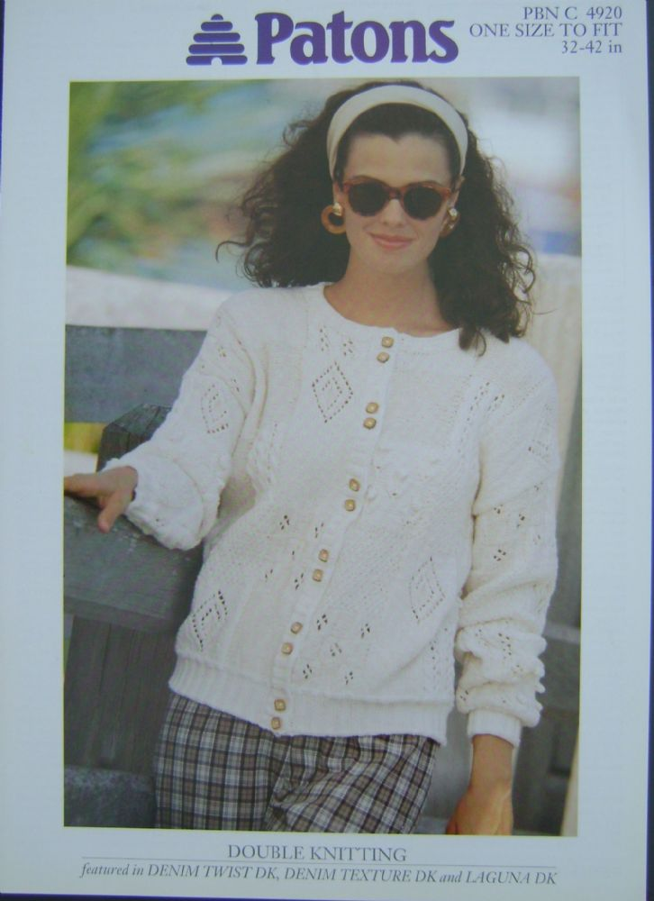 Patons Knitting Pattern 4920